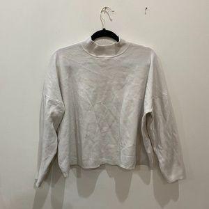 H&M knitwear cropped mock neck